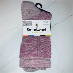 SmartWool Pink 'Lily Pond Pointelle Crew' Socks